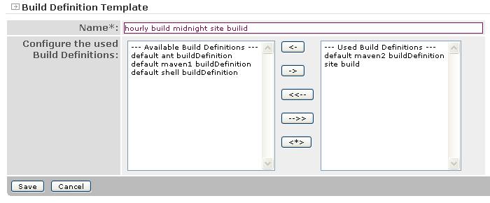 Apache Continuum - Build Definition Template